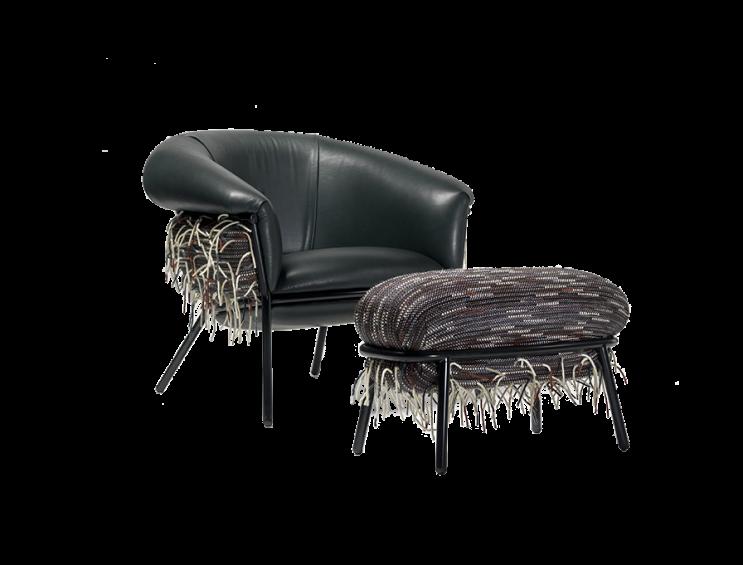 GRASSO  Armchair + Ottoman